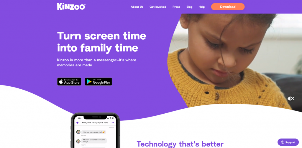 Apps for kids - Kinzoo a messenger app built upon love and years of efforts of a father