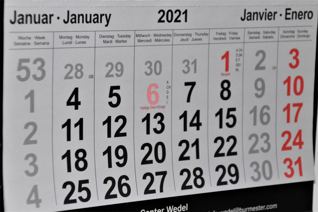 how to find a rental property in Vancouver as a young family - prepare a calendar